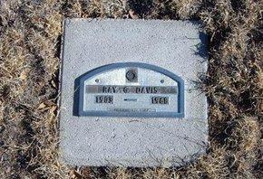 DAVIS, RAY GEORGE - Baca County, Colorado | RAY GEORGE DAVIS - Colorado Gravestone Photos