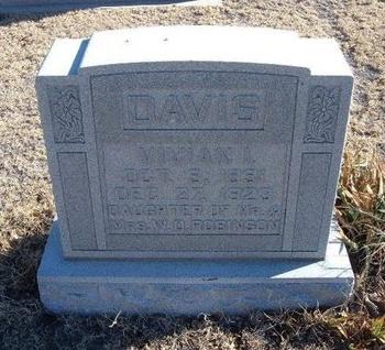 ROBINSON DAVIS, VIVIAN I - Baca County, Colorado   VIVIAN I ROBINSON DAVIS - Colorado Gravestone Photos