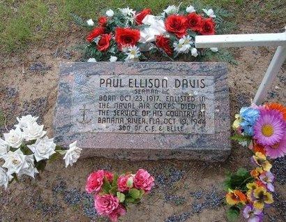 DAVIS (VETERAN), PAUL ELLISON - Baca County, Colorado | PAUL ELLISON DAVIS (VETERAN) - Colorado Gravestone Photos