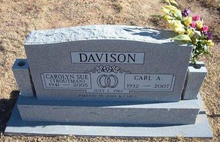 TROUTMAN DAVISON, CAROLYN SUE - Baca County, Colorado   CAROLYN SUE TROUTMAN DAVISON - Colorado Gravestone Photos