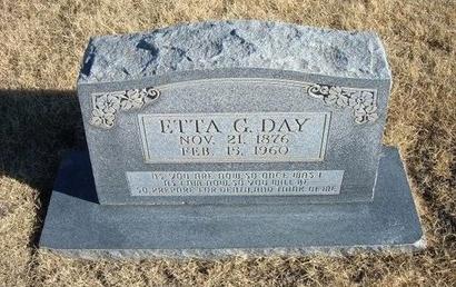 DAY, ETTA G - Baca County, Colorado   ETTA G DAY - Colorado Gravestone Photos