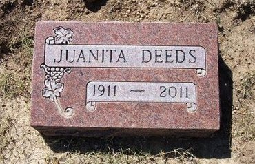 DEEDS, JUANITA - Baca County, Colorado | JUANITA DEEDS - Colorado Gravestone Photos