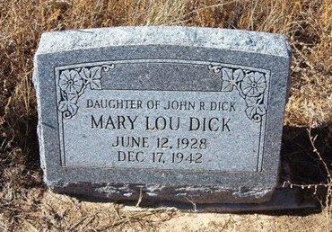 DICK, MARY LOU - Baca County, Colorado   MARY LOU DICK - Colorado Gravestone Photos