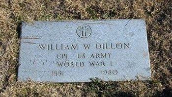 DILLON (VETERAN WWI), WILLIAM W - Baca County, Colorado | WILLIAM W DILLON (VETERAN WWI) - Colorado Gravestone Photos