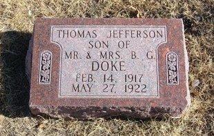 DOKE, THOMAS JEFFERSON - Baca County, Colorado | THOMAS JEFFERSON DOKE - Colorado Gravestone Photos