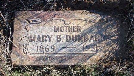 DUNBAR, MARY BELLE - Baca County, Colorado | MARY BELLE DUNBAR - Colorado Gravestone Photos