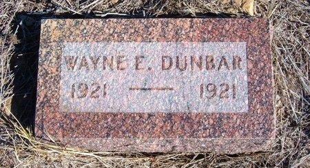 DUNBAR, WAYNE E - Baca County, Colorado | WAYNE E DUNBAR - Colorado Gravestone Photos