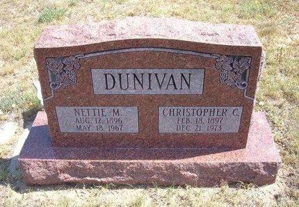 DUNIVAN, NETTIE M - Baca County, Colorado | NETTIE M DUNIVAN - Colorado Gravestone Photos