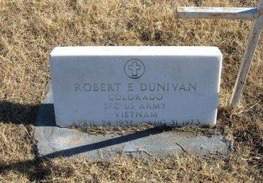 DUNIVAN (VETERAN VIET), ROBERT E - Baca County, Colorado | ROBERT E DUNIVAN (VETERAN VIET) - Colorado Gravestone Photos