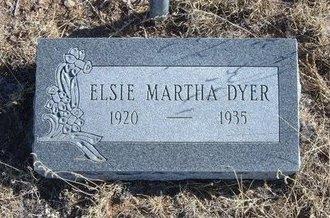 DYER, ELSIE MARTHA - Baca County, Colorado | ELSIE MARTHA DYER - Colorado Gravestone Photos