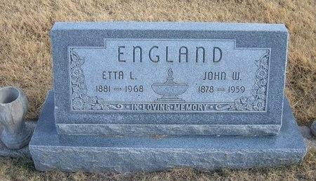 ENGLAND, ETTA L - Baca County, Colorado | ETTA L ENGLAND - Colorado Gravestone Photos
