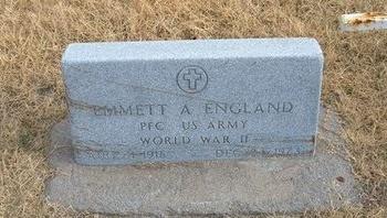 ENGLAND (VETERAN WWII), EMMETT A - Baca County, Colorado | EMMETT A ENGLAND (VETERAN WWII) - Colorado Gravestone Photos