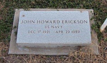 ERICKSON (VETERAN), JOHN HOWARD - Baca County, Colorado | JOHN HOWARD ERICKSON (VETERAN) - Colorado Gravestone Photos