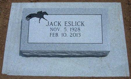 ESLICK, JACK - Baca County, Colorado | JACK ESLICK - Colorado Gravestone Photos