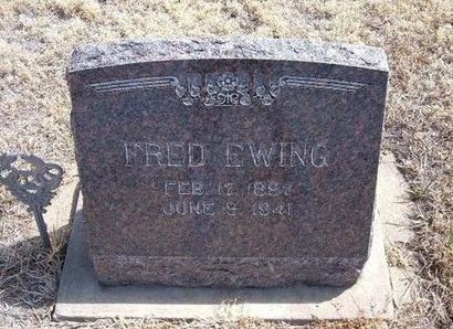 EWING, FRED E - Baca County, Colorado | FRED E EWING - Colorado Gravestone Photos