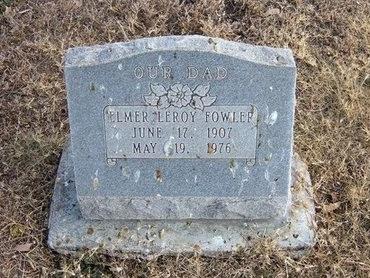 FOWLER, ELMER LEROY - Baca County, Colorado   ELMER LEROY FOWLER - Colorado Gravestone Photos