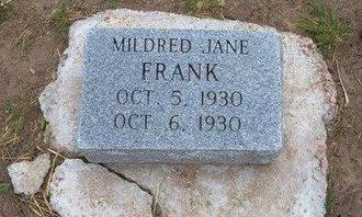 FRANK, MILDRED JANE - Baca County, Colorado | MILDRED JANE FRANK - Colorado Gravestone Photos