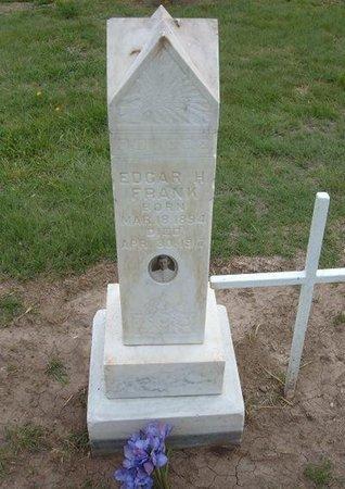 FRANK (VETERAN WWI), EDGAR H - Baca County, Colorado   EDGAR H FRANK (VETERAN WWI) - Colorado Gravestone Photos