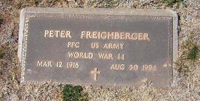 FREIGHBERGER (VETERAN WWII), PETER - Baca County, Colorado   PETER FREIGHBERGER (VETERAN WWII) - Colorado Gravestone Photos