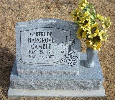 HARGROVE GAMBLE, GERTRUDE - Baca County, Colorado | GERTRUDE HARGROVE GAMBLE - Colorado Gravestone Photos