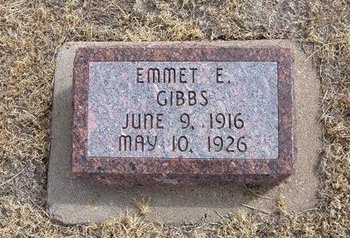 GIBBS, EMMET E - Baca County, Colorado | EMMET E GIBBS - Colorado Gravestone Photos