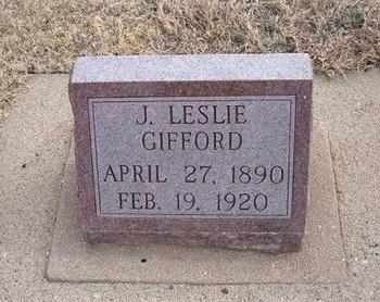 GIFFORD, JAMES LESLIE - Baca County, Colorado | JAMES LESLIE GIFFORD - Colorado Gravestone Photos