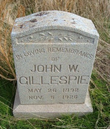 "GILLESPIE, JOHN WILLIAM ""CHARLES"" - Baca County, Colorado 