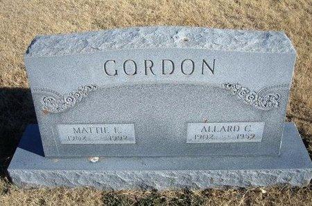 CAMPBELL GORDON, MATTIE ELIZABETH - Baca County, Colorado   MATTIE ELIZABETH CAMPBELL GORDON - Colorado Gravestone Photos