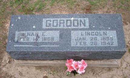 GORDON, LINCOLN - Baca County, Colorado   LINCOLN GORDON - Colorado Gravestone Photos
