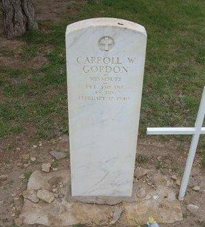 GORDON (VETERAN WWI), CARROLL W - Baca County, Colorado | CARROLL W GORDON (VETERAN WWI) - Colorado Gravestone Photos