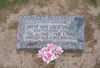 GREATHOUSE, EDITH ADA - Baca County, Colorado | EDITH ADA GREATHOUSE - Colorado Gravestone Photos