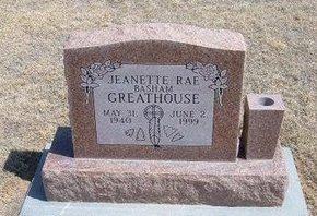 BASHAM GREATHOUSE, JEANETTE RAE - Baca County, Colorado   JEANETTE RAE BASHAM GREATHOUSE - Colorado Gravestone Photos