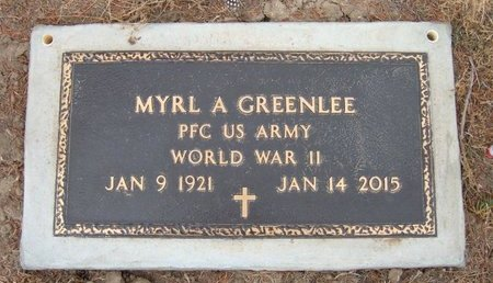 GREENLEE (VETERAN WWII), MYRL A - Baca County, Colorado   MYRL A GREENLEE (VETERAN WWII) - Colorado Gravestone Photos