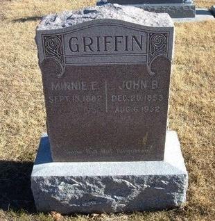 BROWN GRIFFIN, MINNIE E - Baca County, Colorado | MINNIE E BROWN GRIFFIN - Colorado Gravestone Photos