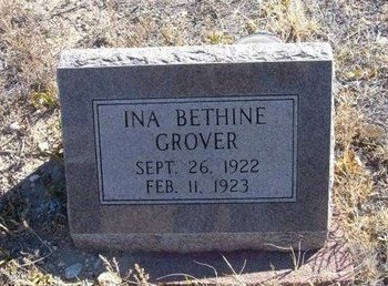 GROVER, INA BETHINE - Baca County, Colorado | INA BETHINE GROVER - Colorado Gravestone Photos