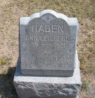 HADEN, ANNA EILEENE - Baca County, Colorado | ANNA EILEENE HADEN - Colorado Gravestone Photos
