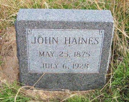 HAINES, JOHN - Baca County, Colorado | JOHN HAINES - Colorado Gravestone Photos