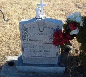 HAIR, MONTY RAY - Baca County, Colorado | MONTY RAY HAIR - Colorado Gravestone Photos