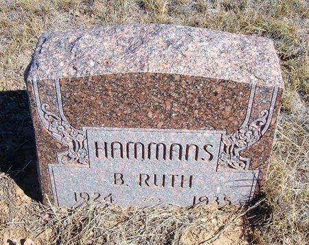 HAMMANS, B RUTH - Baca County, Colorado | B RUTH HAMMANS - Colorado Gravestone Photos
