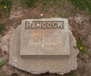 HANCOCK, VERNA NADINE - Baca County, Colorado   VERNA NADINE HANCOCK - Colorado Gravestone Photos