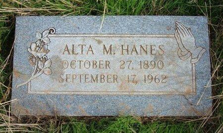 HANES, ALTA M - Baca County, Colorado | ALTA M HANES - Colorado Gravestone Photos