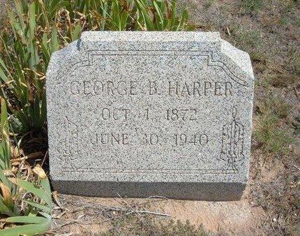 HARPER, GEORGE B - Baca County, Colorado | GEORGE B HARPER - Colorado Gravestone Photos
