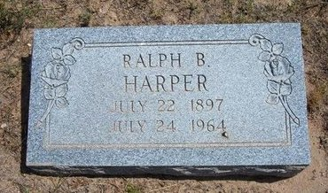 HARPER, RALPH B - Baca County, Colorado | RALPH B HARPER - Colorado Gravestone Photos