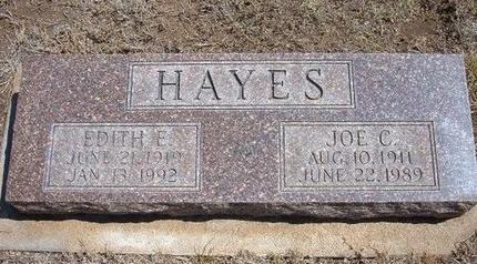 HAYES, JOE C - Baca County, Colorado   JOE C HAYES - Colorado Gravestone Photos