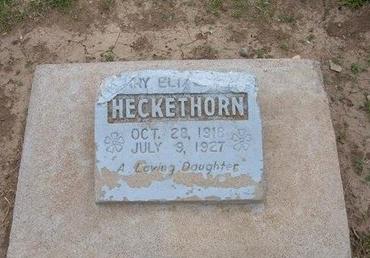 HECKETHORN, MARY E - Baca County, Colorado | MARY E HECKETHORN - Colorado Gravestone Photos