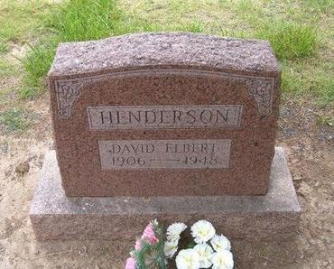 HENDERSON, DAVID ELBERT - Baca County, Colorado   DAVID ELBERT HENDERSON - Colorado Gravestone Photos