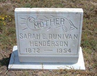 HENDERSON, SARAH E DUNIVAN - Baca County, Colorado | SARAH E DUNIVAN HENDERSON - Colorado Gravestone Photos