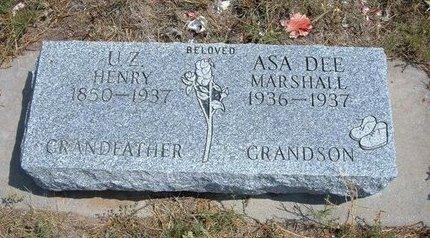 MARSHALL, ASA DEE - Baca County, Colorado | ASA DEE MARSHALL - Colorado Gravestone Photos