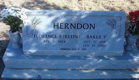 KLEIN HERNDON, FLORENCE EASTER - Baca County, Colorado | FLORENCE EASTER KLEIN HERNDON - Colorado Gravestone Photos