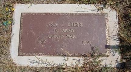 HESS (VETERAN), ASA I - Baca County, Colorado | ASA I HESS (VETERAN) - Colorado Gravestone Photos